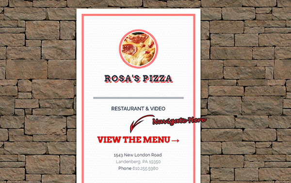 Rosa's Pizza 3D Menu
